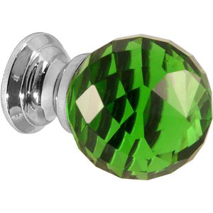 Jedo Green Faceted Glass Cabinet Knobs JH1259 30PC, Green