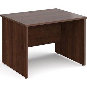 All Walnut Panel End Rectangular Desk, 100wx80dx73h (cm) Np108sw