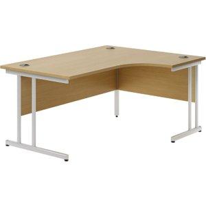 Astrada C-leg Right Hand Ergonomic Desk (oak), 160wx117/80dx73h (cm), Oak Valpluscw16ro, Oak