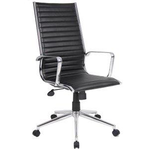 Bari High Back Executive Chair, Black, Free Next Day Delivery BARI300T1, Black