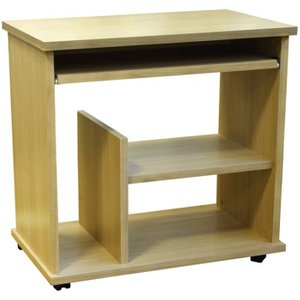 Barnes Mobile Workstation, Beech, Free Standard Delivery Fcl16bh Nd