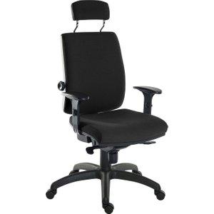 Baron 24hr Ergonomic Armchair With Headrest (fabric) 9700 / R510 Black+0270 Assemble