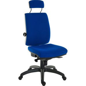 Baron 24hr Ergonomic Chair With Headrest (fabric), Blue, Free Next Day Delivery 9700 / R510 BLUE, Blue
