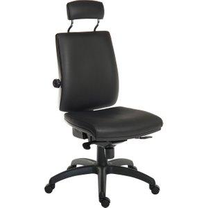 Baron 24hr Ergonomic Chair With Headrest (pu), Black 9700 / R510 Pu, Black