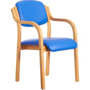 Chaucer Armchair (microbial Vinyl), Blue, Free Delivered & Fully Installed Delivery DART25004 74465, Blue