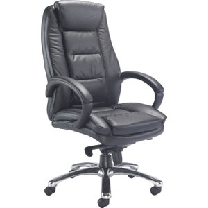 Cota Leather Faced Executive Chair, Black, Free Delivered & Fully Installed Delivery CH0240BK, Black