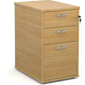 Desk High Pedestals, 43wx60dx73h (cm), Oak, Free Standard Delivery R25DH6OX