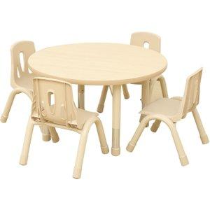 Elegant Height Adjustable Round Table, Maple Kb4 Eax85 30, Maple
