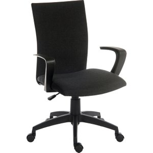 Employ Fabric Executive Chair Black, Black, Free Delivered & Fully Installed Delivery 6931BLACK ASSEMBLED, Black