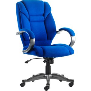 Fiji Fabric Executive Chair Blue, Blue, Free Delivered & Fully Installed Delivery GALLOWAY FABRIC BLUE ASSEMBLED, Blue