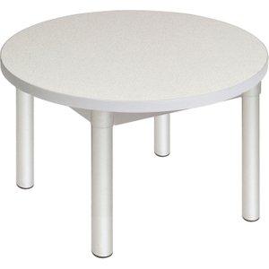 Gopak Enviro Round Coffee Table (silver Frame), Free Standard Delivery EN/GD39/S L GREY GP47