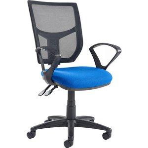 Gordy 3 Lever Mesh Back Operator Chair With Fixed Arms, Havana Ah21 000 Havana Ys009, Havana