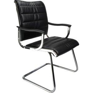 Havana Black Leather Faced Visitor Chair, Black, Free Delivered & Fully Installed Delivery DPA701AV/BK ASSEMBLEDX, Black
