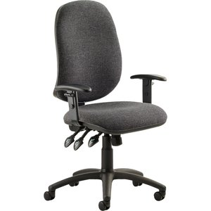 Haze 3 Lever Operator Chair With Adjustable Arms, Charcoal Kc0037 Nd, Charcoal
