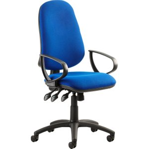 Haze 3 Lever Operator Chair With Fixed Arms, Blue Kc0033 Nd, Blue
