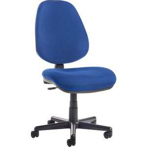 High Back Operator Chair, Blue, Free Next Day Delivery BILB1 B, Blue
