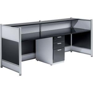 Inspire Gloss Reception Desk, Black, Free Standard Delivery Signature Gloss Reception Desk