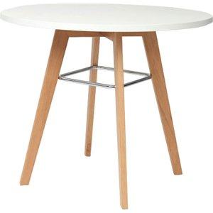 Jovian Circular Dining Table, 100diax73h (cm), Oak/white Vt170do10m Oak W, Oak/White