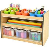 Junior Arts And Craft Storage Unit With 2 Shelves, Grey Mxr0027/gy, Grey