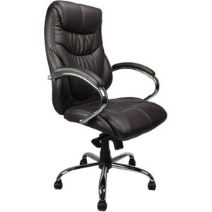 Kintyre Brown Leather Faced Executive Chair, Brown, Free Delivered & Fully Installed Deliv DPA617KTAG/LBW ASSEMBLEDX, Brown