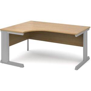 Larrain Left Hand Ergonomic Desk, 160wx120/80dx73h (cm), Oak Vel16o, Oak