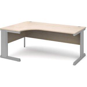 Larrain Left Hand Ergonomic Desk, 180wx120/80dx73h (cm), Maple, Free Delivered & Fully Installed De VEL18MX, Maple