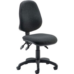 Lunar 3 Lever Operator Chair With No Arms, No Arms/charcoal, Free Next Day Delivery Eclipse 3 Lever No Arms Charcoa, No Arms/Charcoal