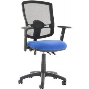 Lunar Plus 2 Lever Deluxe Mesh Back Operator Chair (adjustable Arms), Black Kc0301 D&i, Black