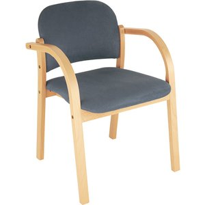 Malva Wooden Frame Reception Armchair, Red Elva Xr072, Red