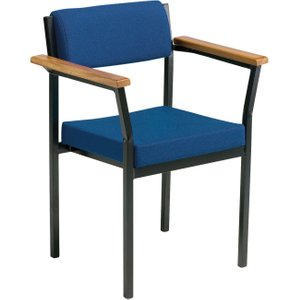 Marland Armchair, Black/cobalt, Free Standard Delivery R2A BLACK/AD004, Black/Cobalt