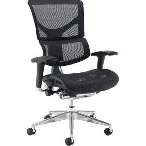 Merideth Ergonomic 24hr Mesh Operator Chair, Black Dynx300e1 C, Black