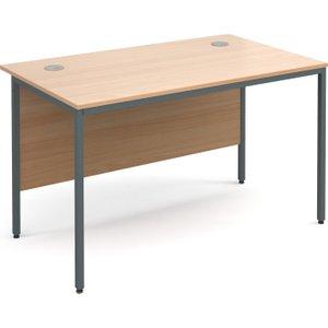 Next-day Value Line Classic H-leg Basic Rectangular Desk, 123wx75dx73h (cm), Beech, Free   H4bx