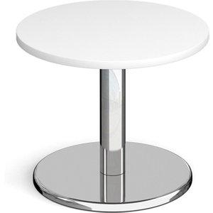 Noli Circular Coffee Table, 60diax49h (cm), White, Free Standard Delivery PCC600 WH, White