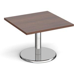 Noli Square Coffee Table, 70diax49h (cm), Walnut Pcs700 W, Walnut
