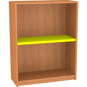 Nucleus Single Sided Bookcase Fd303st Red