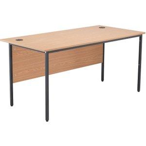 Origin H-leg Basic Rectangular Desk, 153wx75dx73h (cm), Oak, Free Standard Delivery Stb1574rec Ok
