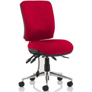 Praktikos Medium Back Posture Operator Chair, Bergamot Cherry Kcup1504 Eco, Bergamot Cherry