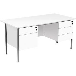 Primo Executive Desk, White Ef1575rec5dpwh