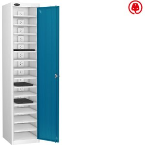 Probe Single Door Laptop Charging Lockers, Blue, Free Standard Delivery 701518SD15LCWHBL HS, Blue