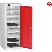 Probe Single Door Laptop Charging Lockers, Red Low8sdlcwhrd Typel, Red