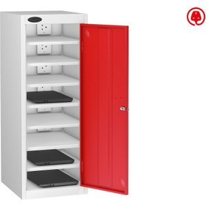 Probe Single Door Laptop Charging Lockers, Red, Free Standard Delivery LOW8SDLCWHRDC, Red