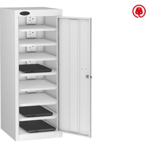 Probe Single Door Laptop Charging Lockers, White, Free Standard Delivery LOW8SDLCWHWHC, White