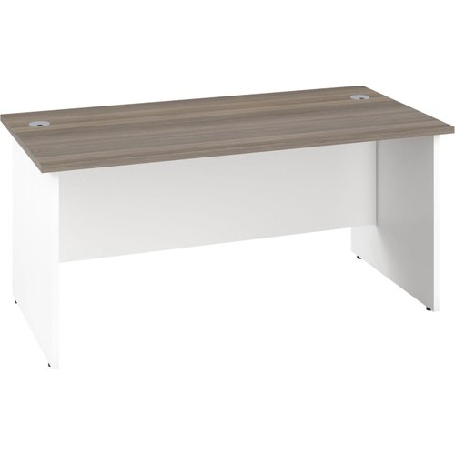 Progress Duo Panel End Rectangular Desk, 80wx80dx73h (cm), Grey Oak Pp8080rec/go, Grey Oak