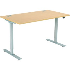 Proteus Sit & Stand Desk, 160wx80dx71-121h (cm), Oak, Free Delivered & Fully Installed Del ZFSS1608 NOAK, Oak