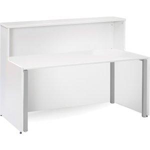 Salute H-leg Reception Desk , 166wx89dx113h (cm), White, Free Standard Delivery WDAD16 WHX