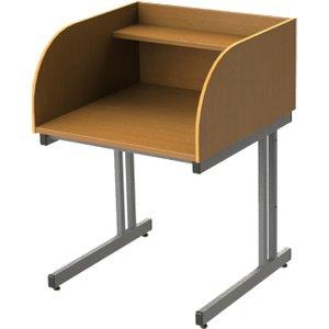 Single Sided C-leg Study Carrel Starter Desk, Beech, Free Standard Delivery NSC10 BEECH, Beech