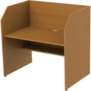 Single Sided Panel End Study Carrel Starter Desk, Beech, Free Standard Delivery CA01 BEECH, Beech