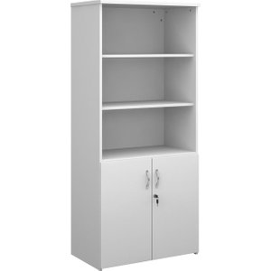 Tandem Open Top Combination Cupboard, 4 Shelf - 80wx47dx179h (cm), White R1790opd Wh, White