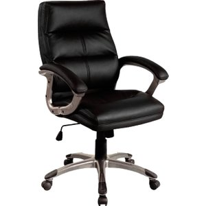 Telford Black Executive Chair, Black, Free Delivered & Fully Installed Delivery BCP/T101 BLACK ASSEMBLEDX, Black