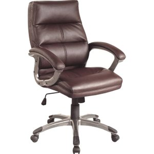 Telford Burgundy Executive Chair, Burgundy, Free Next Day Delivery BCP/T101 BROWNX, Burgundy